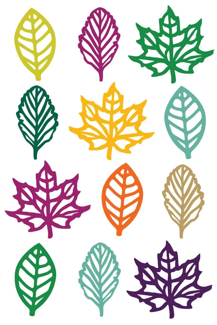 hight resolution of this festive and colorful set of fall leaf clip art is just what you need for