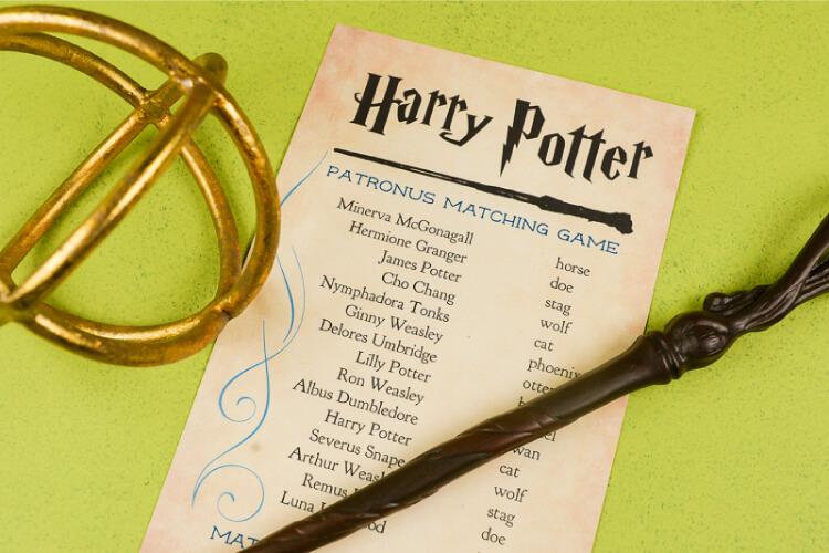 Harry Potter Patronus Matching Game - Hey, Let's Make Stuff