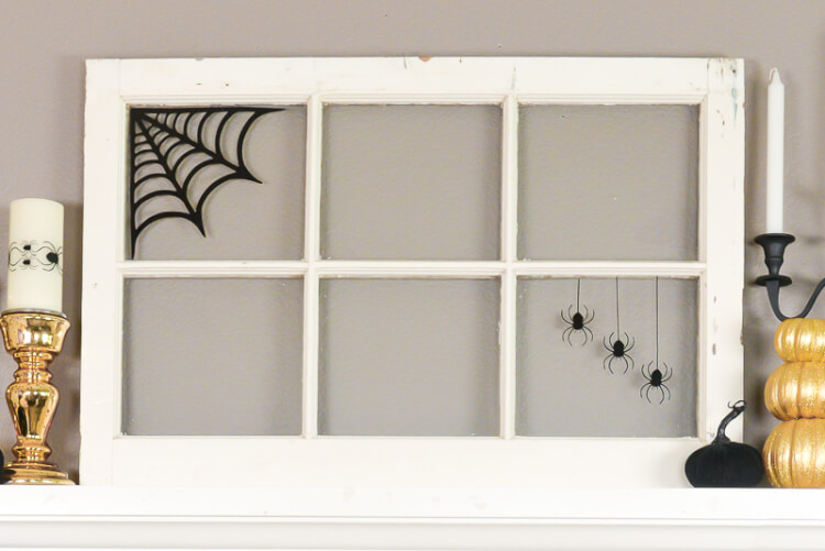 Add some spook to your windows with these creepy spider web window clings! Just cut with a Cricut or other cutting machine using black window cling and hang on any glass surface.