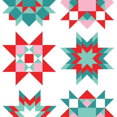 Christmas Quilt Square Clip Art