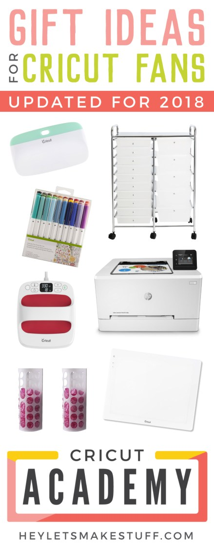 If you're looking for the gift ideas for the Cricut fan in your life, you've come to the right place! This list has all sorts of Cricut accessories, tools, and other fun ideas for any Cricut lover. Updated for 2018!