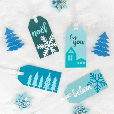 5 Winter Gift Wrap Ideas + Free Printable Gift Tags