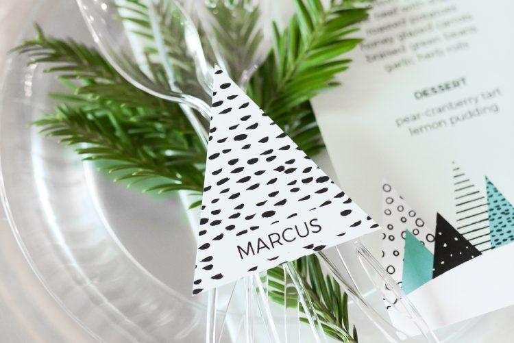 Winter Trees Christmas Table Decor Ideas Hey Lets Make