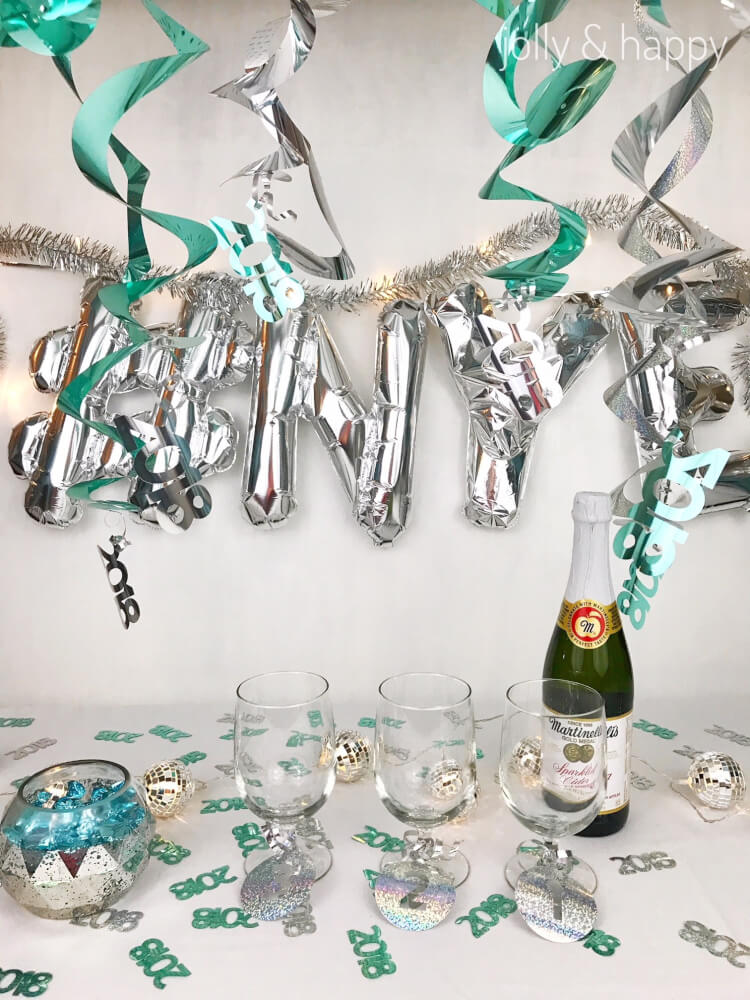 Get ready for the new year with these fun New Year's Eve party ideas using your Cricut or other electronic cutting machine! So many ideas and free SVG files to help you party like it's 1999!