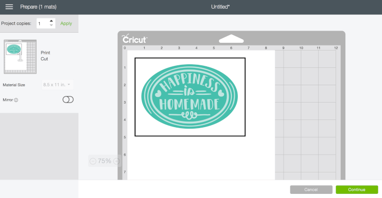 Flatten in Cricut Design Space 2