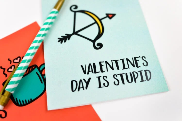 Say what you're really thinking with these funny and honest valentines! These printable valentines will make the recipient laugh out loud and probably score you some points in the humor department, if not the romantic one!