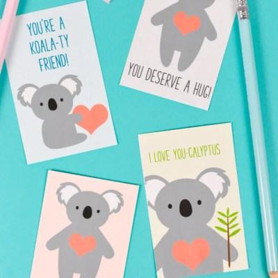 Printable Koala Valentines