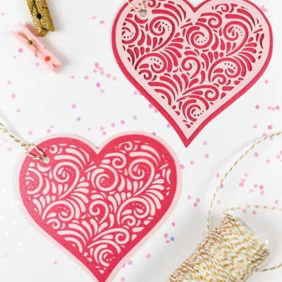Valentine's Day Cut Paper Hearts for the Cricut