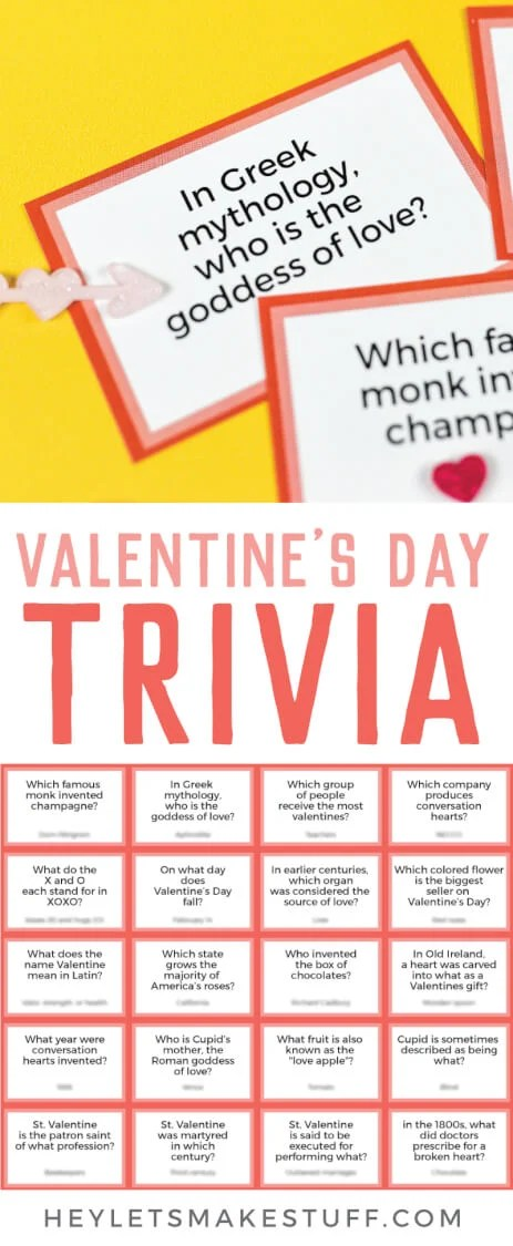 Valentine's day trivia pin