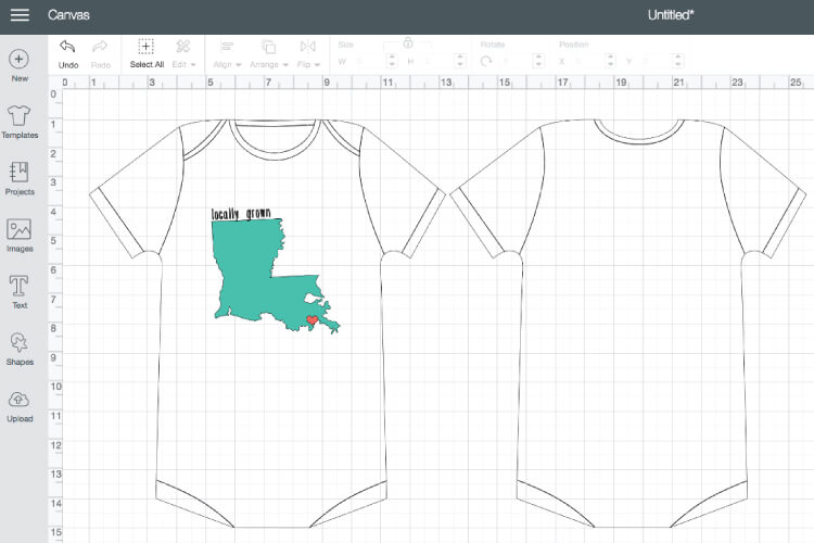 The templates in Cricut Design Space make it so easy to properly size your projects! Figure out the right dimensions for clothes, mugs and tumblers, and all sort of other materials!