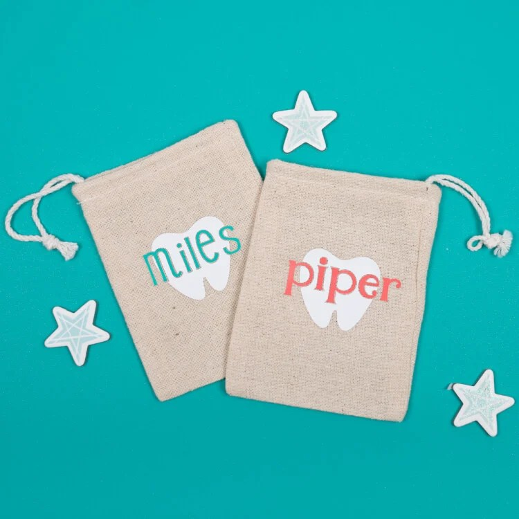Make sure the tooth fairy can find your little one's tooth by making this sweet customizable tooth fairy pouch using your Cricut Explore and Cricut EasyPress!