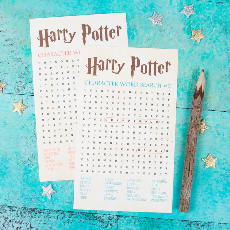 photograph regarding Harry Potter Word Search Printable named Harry Potter Term Glance - Figures - Hey, Will allow Create Things