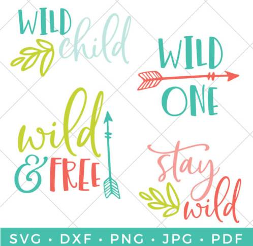 Celebrate your inner-wild one with these adorable wild child SVG files! Embrace that wild streak on onesies, nursery artwork, and all sorts of kids projects.