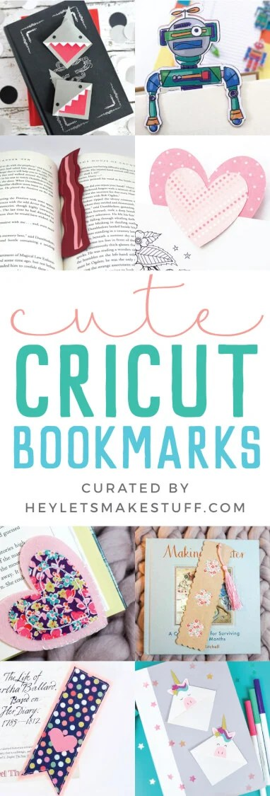 Create these fun and easy bookmarks with your Cricut, and you'll never lose your place in your favorite book again! There are so many Cricut bookmark tutorials, perfect for gifts, student projects, and so much more! via @heyletsmakestuf