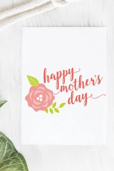Celebrate mom this year with these sweet Happy Mother's Day SVG files! Put them on a Mother's Day card, pillow, or anywhere else you want to honor your mom.