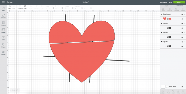 One line sliced out of the heart