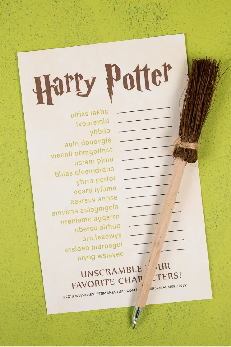 photo relating to Printable Harry Potter known as Magical Harry Potter Printables - Video games, Bash, Decor