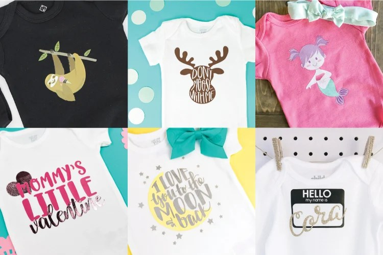 3599fd38c Dress your littles in style with these DIY baby onesies! Your Cricut makes  these baby