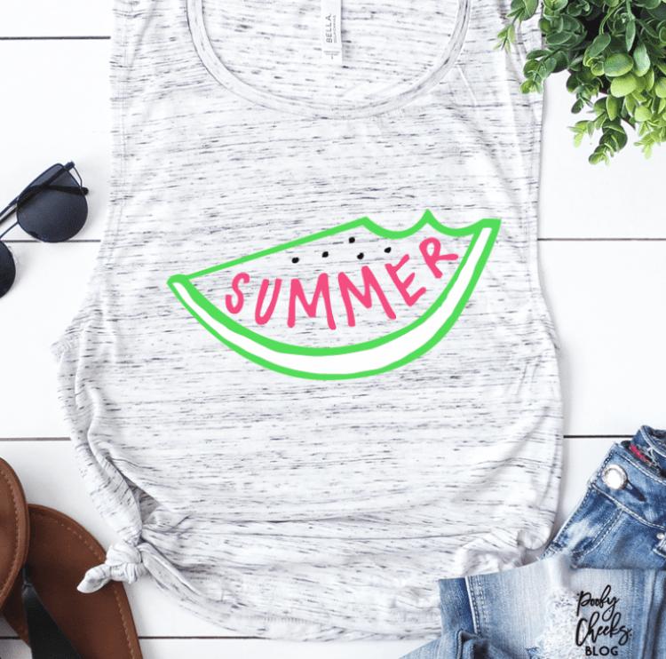 Summer Watermelon Cut File