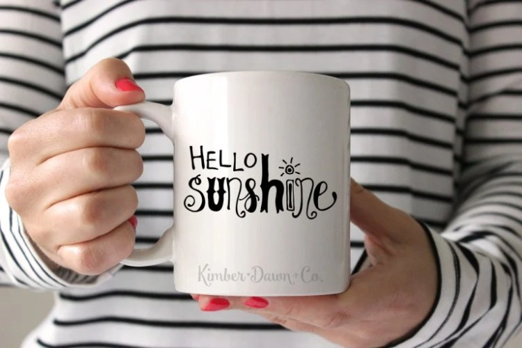 Hand Lettered Hello Sunshine File
