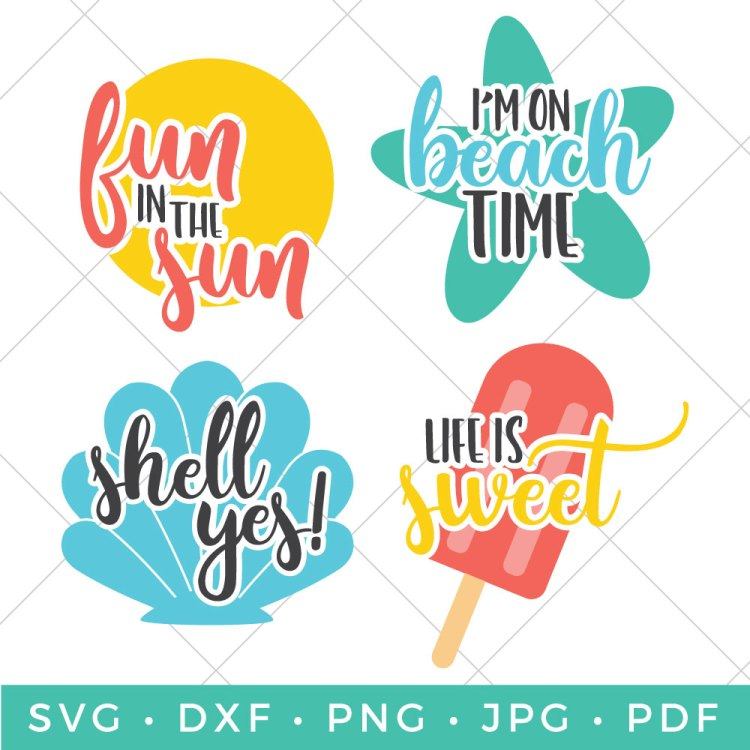 Nothing like hearing the crashing waves and feeling the sand between your toes! Add some summer fun to your crafts, beach bags, water bottles and just about anything with these Beach SVGs!