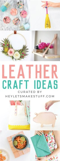 One of the hottest materials right now is leather. Here are a ton of gorgeous DIY leather projects you can make using your Cricut or by hand.