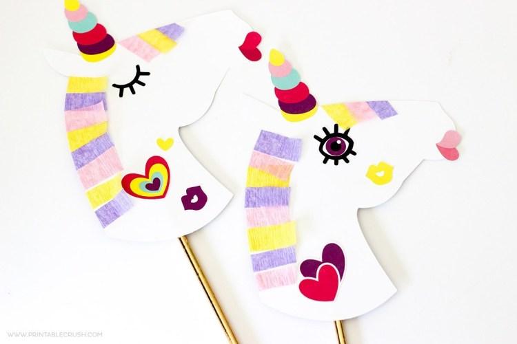 printable unicorn craft