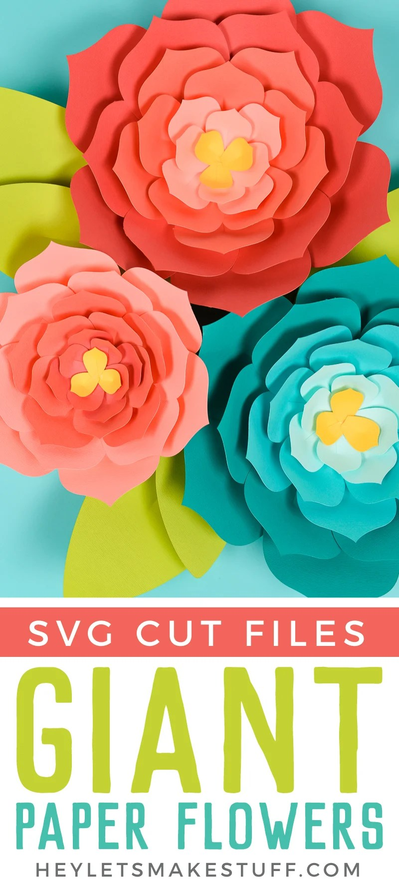 Download this free giant paper flower template (hand cut or SVG for the Cricut) and then get my best tips and tricks for making them easily! via @heyletsmakestuf