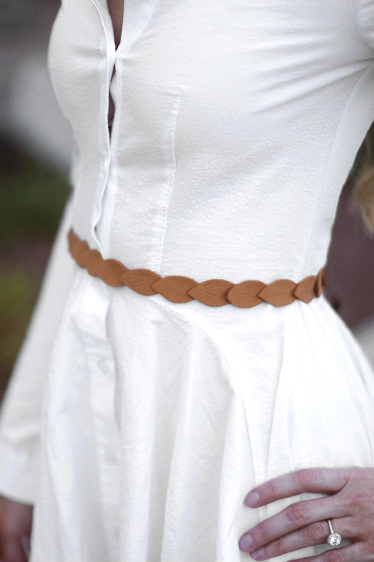 Leather Petal Belt