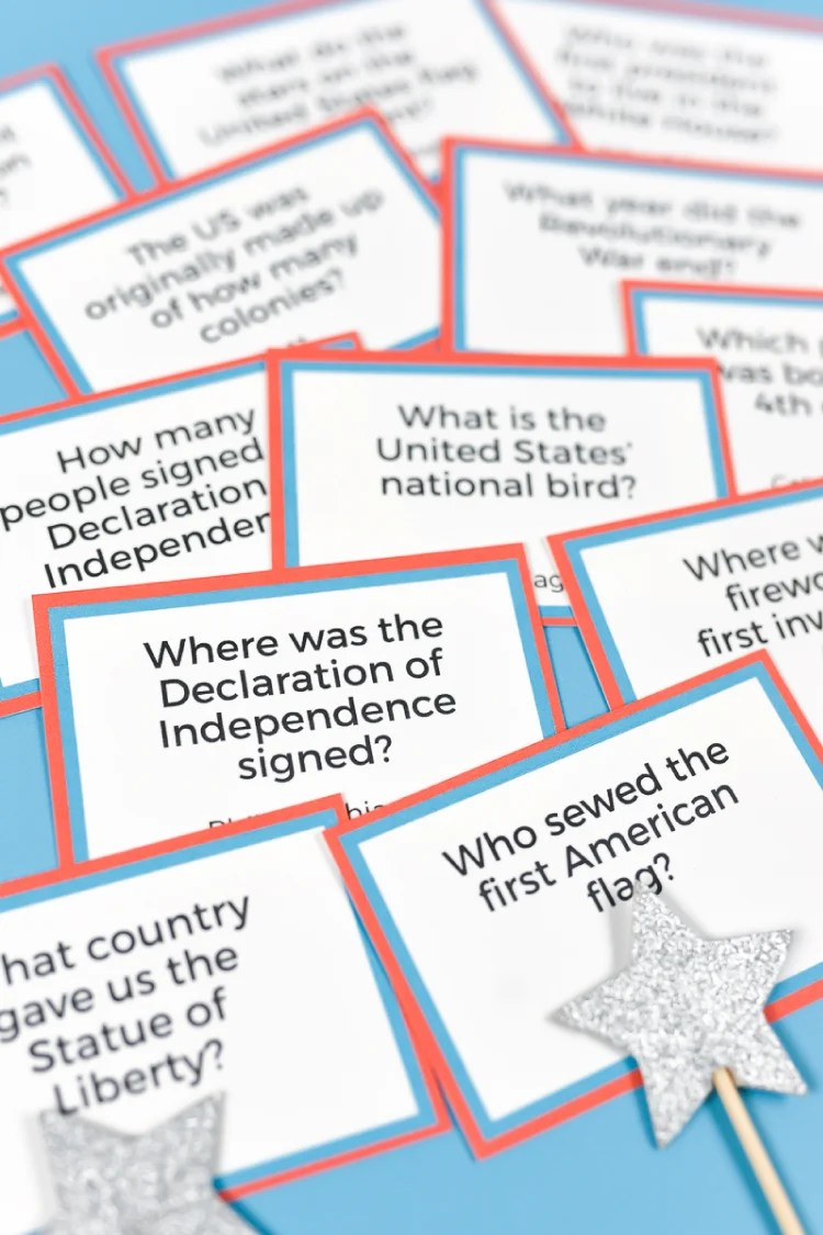 image relating to 4th of July Trivia Printable known as Printable Fourth of July Trivia - Hey, Enables Generate Things