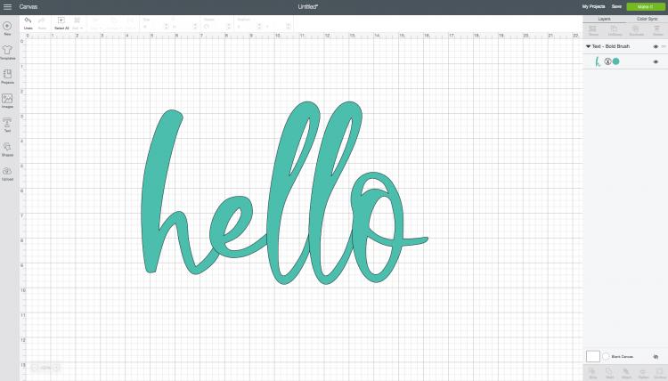 Hello using Bold Brush