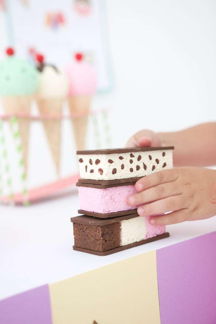 kids cricut craft ice cream sandwiches