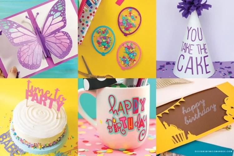 Free Birthday Party SVG Files - Decor, Invitations, Apparel