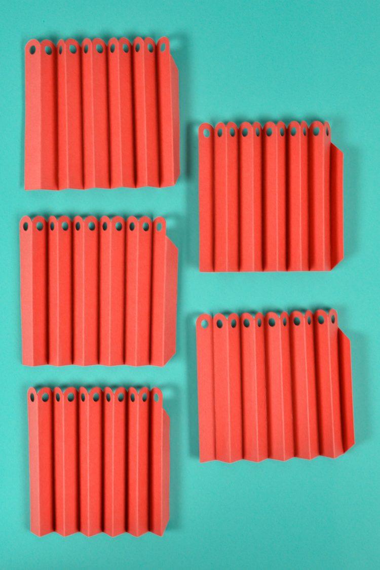 Folded rosette segments