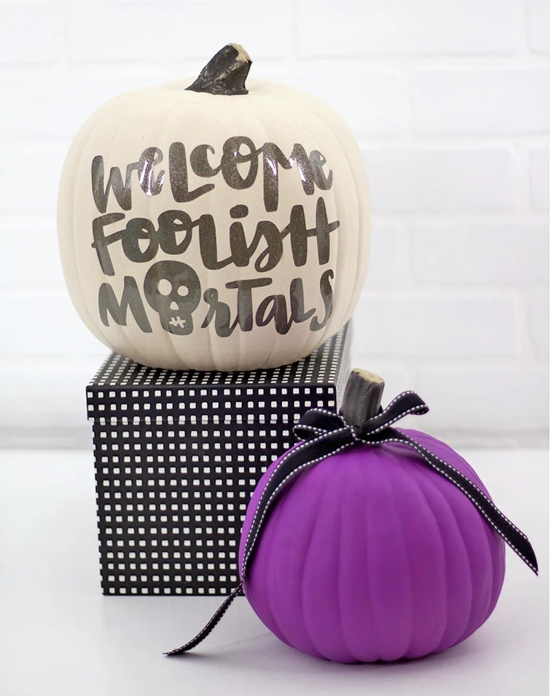 Haunted Mansion Inspired Pumpkin Craft from persialou.com
