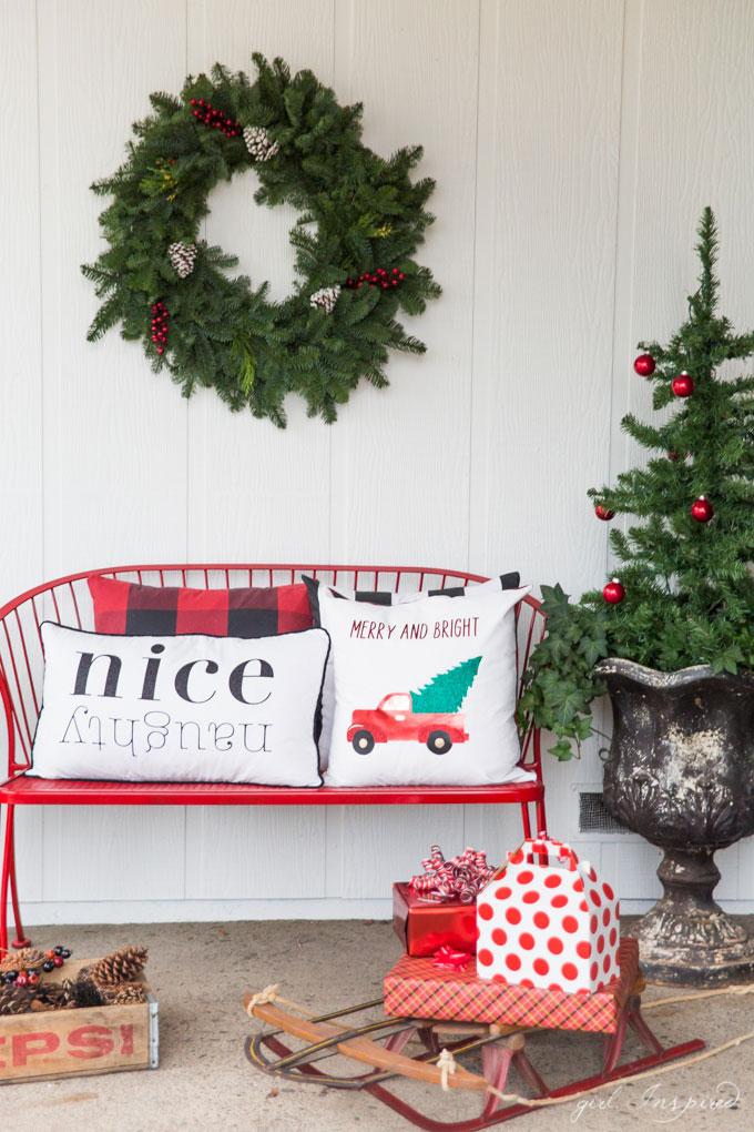 Custom Christmas Pillows - the Girl Inspired
