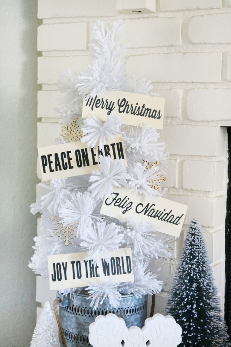 Wood Plaque Christmas Ornaments - Tatertots & Jello