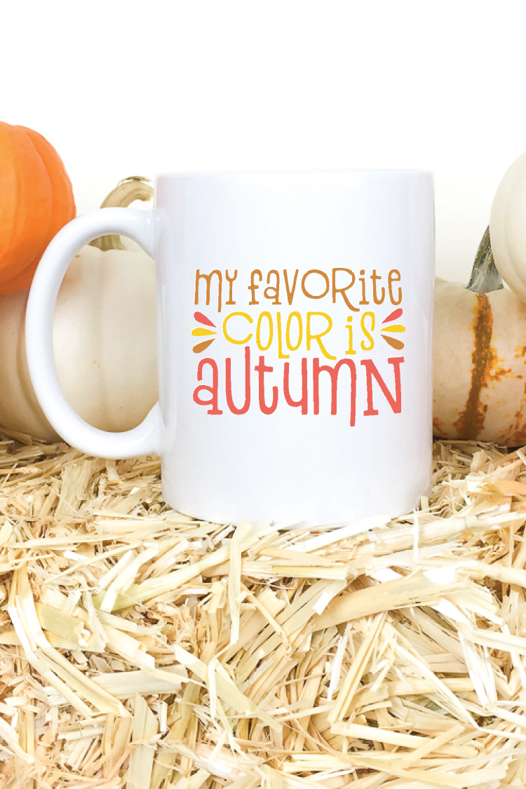 This fall SVG bundle is perfect for making all sorts of adorable autumnal projects! Put them on t-shirts, totes, mugs, and more!