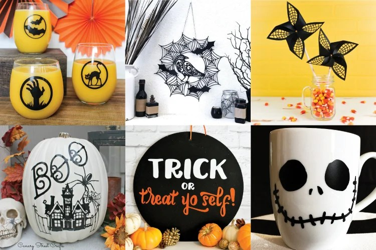 Spooky, scary, cute, and silly—break out your Cricut and make a project from this ghoulish collection of Halloween crafts and projects!