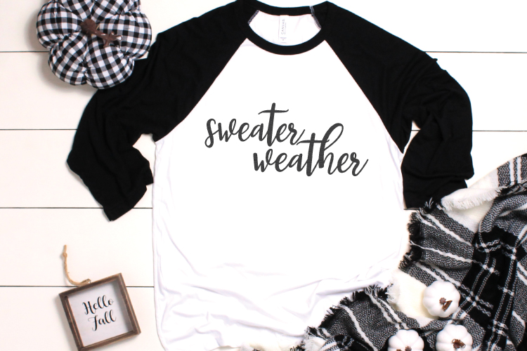 Say goodbye to those hot summer days! Sweater Weather is my favorite season and this hand-lettered SVG celebrates it!