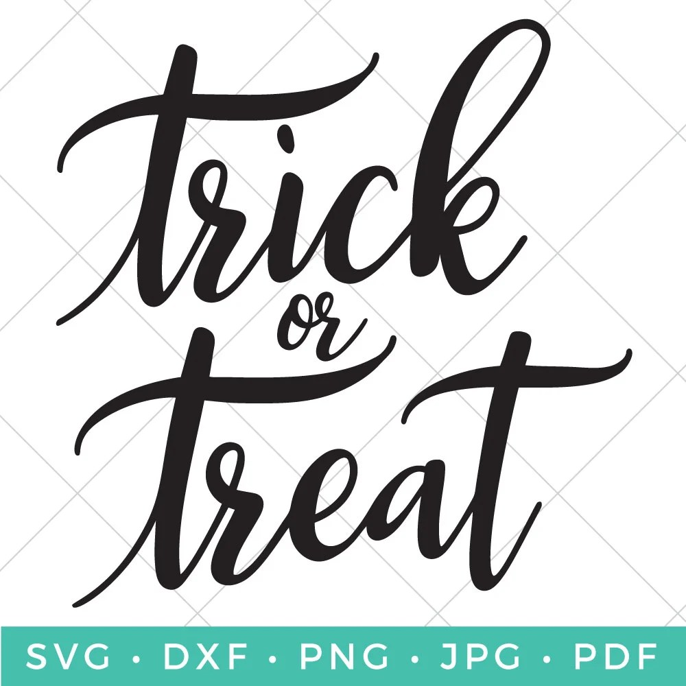 Show your Halloween spirit with a t-shirt, candy bag, party decor and whatever else you can think of with this free Trick or Treat SVG!