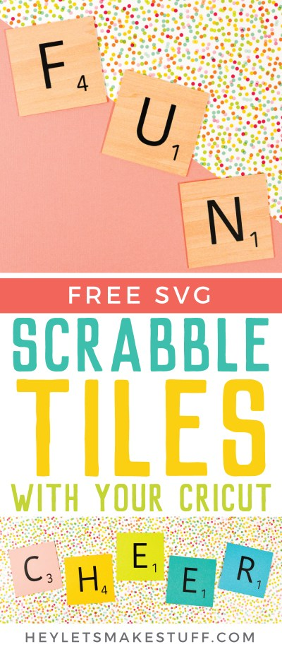 Use your Cricut to make these fun DIY Scrabble words! Get the FREE SVG set of tiles to create any word you'd like. Cut using basswood on your Cricut Maker, or simply cut from paper or other materials using your Cricut Explore!