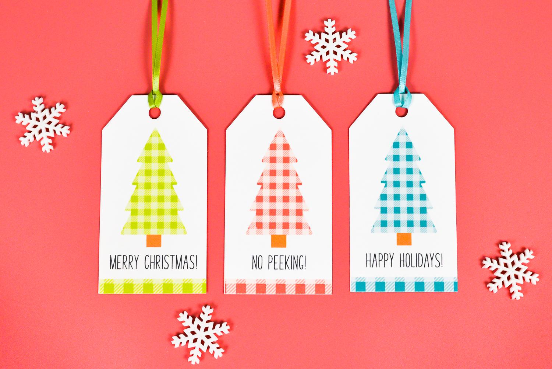 photograph about Printable Gift Tags called Buffalo Plaid Printable Xmas Reward Tags - Hey, Enables