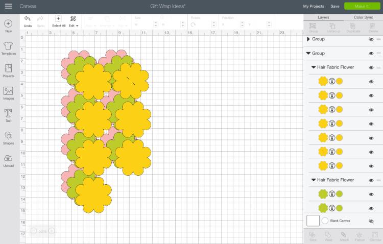 Design Space - Fabric Flowers