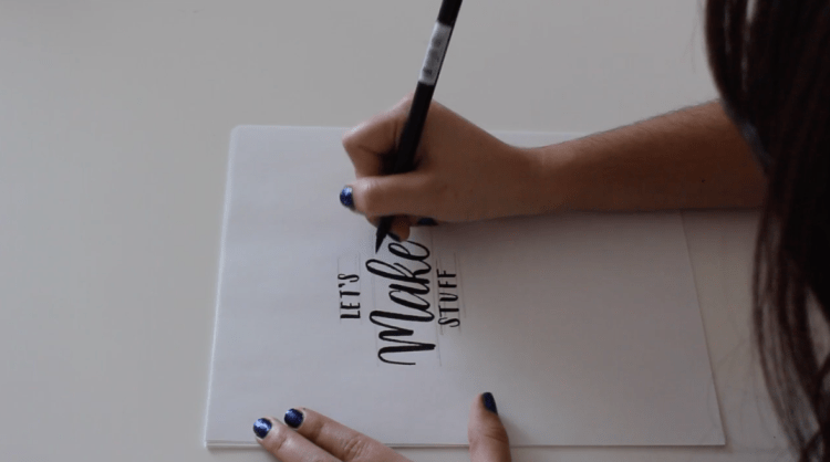 Brush Lettering Made Simple | Dreya, Type Stuff