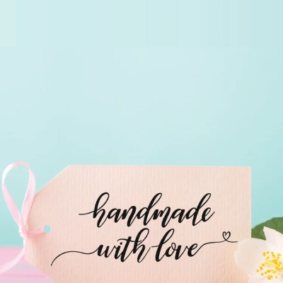 Hand-Lettered Handmade with Love SVG