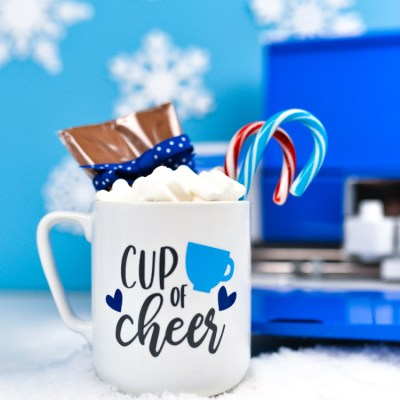 Hot Cocoa Mug Gift with the Cobalt Cricut Explore Air 2