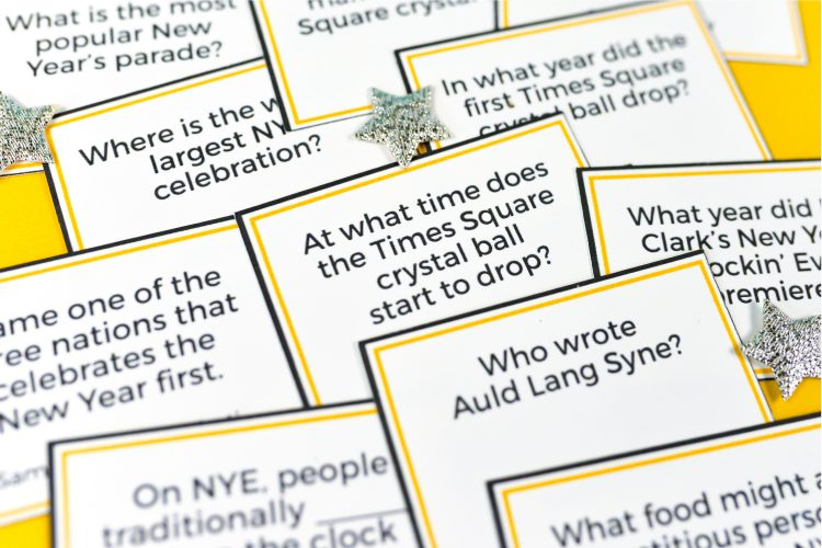 New Year's Eve trivia questions