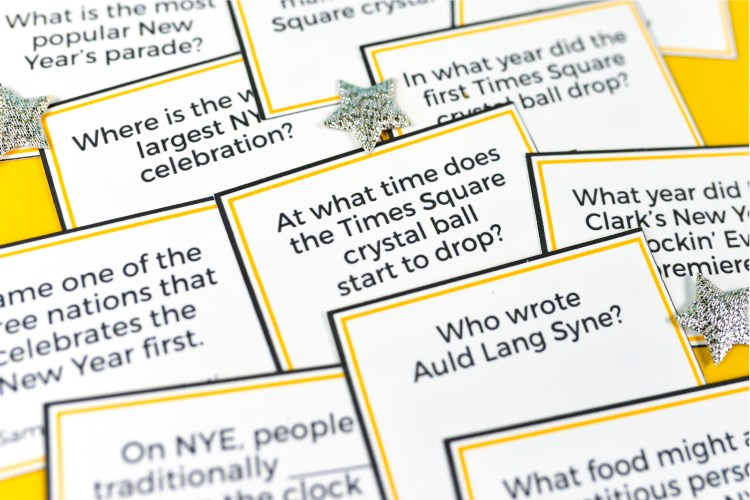 Test your knowledge of all things New Year's Eve with this fun printable New Year's Eve Trivia! The perfect New Year's Eve game to play as the hours tick away until midnight. Show off your NYE smarts or learn something new!