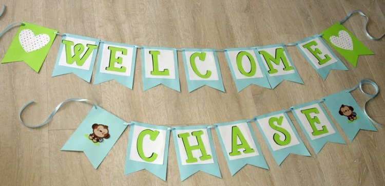 HOW TO MAKE A SIMPLE BABY SHOWER BANNER